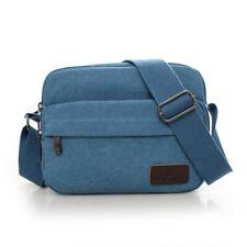 Women teal Canvas Crossbody Sling Shoulder Messenger Bag lady Solidcolor Handbag