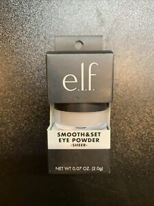 ELF Smooth & Set Eye Powder - SHEER - 0.07oz Full Size / BRAND NEW BOXED
