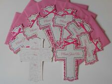8 x Christening Communion Baptism confirmation Birthday invites invitations (P)
