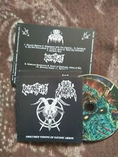 NUN SLAUGHTER/PAGANFIRE-obscured visions of satanic arson- CD-death/black metal
