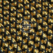 Black & Gold (UL) Cloth Covered Electrical Wire - Braided Rayon Fabric Wire