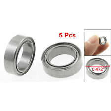 5 Pcs 8 x 12 x 3.5mm Double Shielded Deep Groove Ball Bearings MR1280Z CT V R5F4