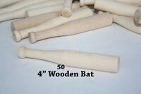 "50pcs Mini Baseball Bats 4"" long x 5/16"" thick Small Party Favor Bat Tiny Bat"