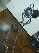 """Old Large Silver Engraved 3 1/2"""" Concho Bit"""
