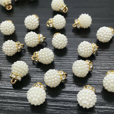 10MM 10Pcs Lovely Strawberry Pearl Pendant beads Chain Necklace Women Jewelry