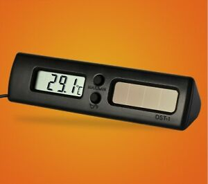 2 PCS Solar Car Digital Thermometer DST-1 Measuring Temperature ℃ and ℉