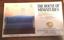 1/12 CHIPPENDALE SOFA #40015 THE HOUSE OF MINIATURES OPEN BOX COMPLETE