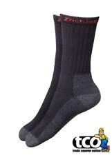 Dickies Work Socks Black Cotton Industrial | Twin Pack of 2 Pairs | Size 7 - 11