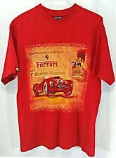 FERRARI Men's Carrera Messicana T-Shirt Size M Medium Red Graphic Tee