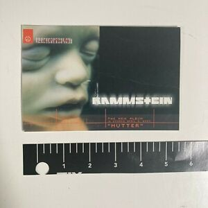 RAMMSTEIN Mutter Rare Promo Postcard from CD/LP 2001 record store exclusive