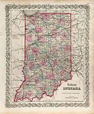 Antique Indiana State Map (1855)
