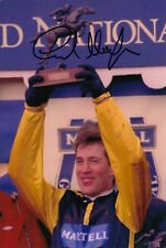 CARL LLEWELLYN EARTH SUMMIT HAND SIGNED 6X4 PHOTO 1998 GRAND NATIONAL 4.