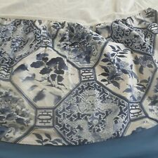 Ralph Lauren Palm Harbor Chinoiserie Dust Ruffle Bed Skirt Queen White and Blue