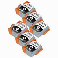 6-PACK Black Ink Cartridges for Canon BJC 50 55 70 80 85 85W BJ 30 Printer