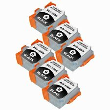 6-PACK Black Ink Cartridges for Canon BJC 50 55 70 80 85 85W BJ 30 Printer