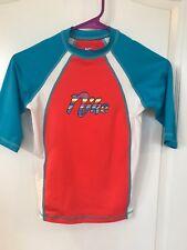 New Nike Swim Girls  Size Large Youth UV Tee T-Shirt 3/4 Sleeve UPF40+