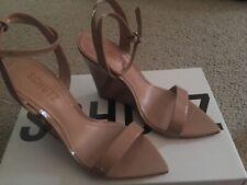 Schutz Raquel Ankle Strap Wedge Sandals Size 5/35 Honey Beige