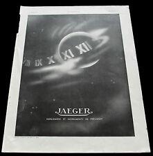 Originale Werbung Frankreich ArtDeco Jaeger 1937 Armaturen Instrumente