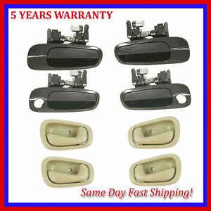 For Toyota Corolla 98-02 Non-Painted & Tan Outside & Inside Door Handle 8PCS