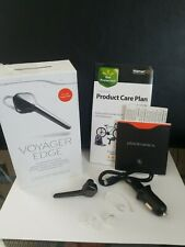 Plantronics Voyager Edge Bluetooth Headset Caller Id & Car Charger
