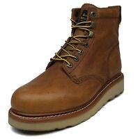 Men's Golden Retriever® 6-Inch Brown Wedge Steel-Toe 2E & D  Work Boots Size