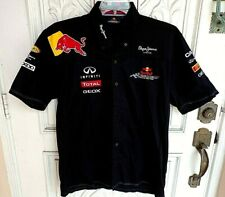 PEPE JEANS LONDON Red Bull Racing F1 Infiniti Mens Polo Shirt Size Large in EUC