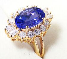 Erhitzte Ringe mit Edelsteinen aus Gelbgold für Damen