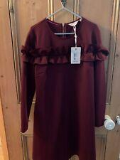 Ted Baker Zufara Ruffle Bodice Tunic Dress RRP £159 Size 3 UK 12 Oxblood