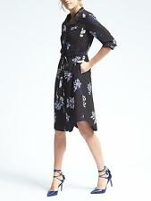 New Banana Long-Sleeve Tie-Waist Floral Shirt Dress Size XS, XL