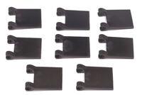 LEGO - 8 x Flagge / Fahne 2x2 mit Clip schwarz / Black Flag Square 2335 NEUWARE