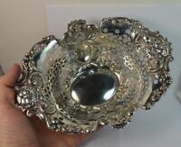 Beautiful Sterling Silver American Pierced Bowl