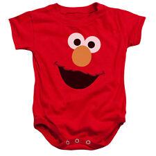 SESAME STREET Elmo FACE Snapsuit Baby Romper 6 - 24M