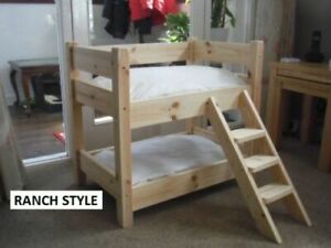 CAT OR DOG SOLID PINE WOODEN BUNK BEDS