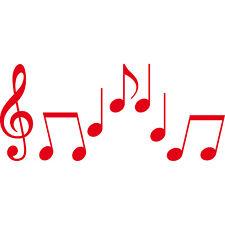 Set S Noten rot Violinschlüssel Notenschlüssel Musik Auto Deko Aufkleber Tattoo