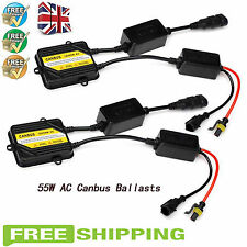 2Pc 55W HID XENON AC CANBUS BALLAST FAST Bright 5S QUICK START SLIM REPLACEMENT