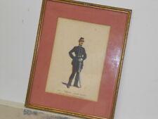 Vtg. Italian Military Museum 1864 Ufficiale Piccola Montura Framed Print