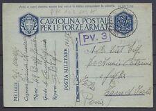 POSTA MILITARE 1941 Franchigia da PM 101 Sez.A a Torre d'Isola (D8)