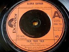 """GLORIA GAYNOR - TALK TALK TALK     7"""" VINYL"""