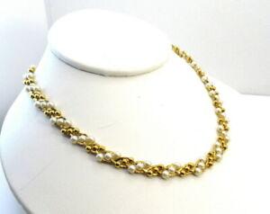 Vintage Trifari TM Pearl Necklace Costume Jewelry
