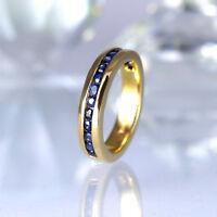 Jette Joop Ring in 750/- Gelbgold glänzend  mit 16 Saphiren Edelsteine