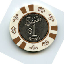 1.00 Casino Chip from the Sands Casino Reno Nevada