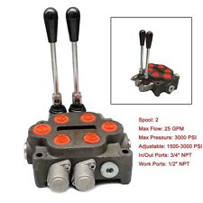 Hydraulic Spool Valve Log Splitter 2 Spool Tractors Loaders 34 Double Acting
