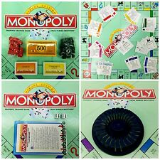 MONOPOLY DELUXE Edition ~ REPLACEMENT Game Pieces ~ Cards Houses Hotels & Manual