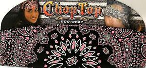 CHOP TOP PINK REVERSED PAISLEY W/RHINESTONES DOO WRAP HEADBAND BANDANA DOO RAG