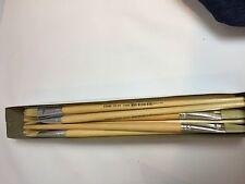 72 PC Long Wooden Handle Artist Bristle Hair Paint Brush -Size 1,2,4,10-$15