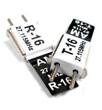 27 MHz AM Trasmettitore e Radio RC Crystal Set 27 MHz 27.115 TX & RX Nero CH 16
