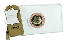 Portefeuille Cuir Noir Leather Wallet White Geldbörsen Weiß Portafoglio Bianco