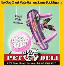 EzyDog Chest Plate Harness Dog 10 Colours 5 Sizes Comfort Car Restraint L Bubblegum