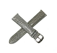 Jacques Lemans 20MM Genuine Alligator Leather Skin Watch Strap Band GRAY NEW
