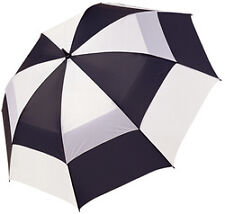 "J & M Golf 62"" Double Canopy Umbrella New Black/White 90131"